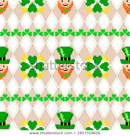 st patricks day knitted clover background vector illustration stock photo © carodi