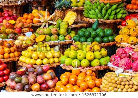 Fraîches exotique fruits marché Barcelone Espagne Photo stock © frimufilms