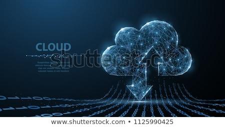 Nube stoccaggio illustrazione connessione file laptop Foto d'archivio © kali
