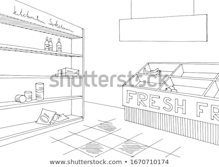 vazio · branco · compras · prateleira · varejo · prateleiras - foto stock © cherezoff