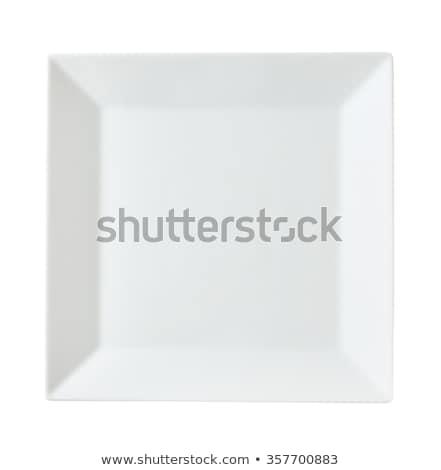 Cuadrados blanco placa coupe plato Foto stock © Digifoodstock