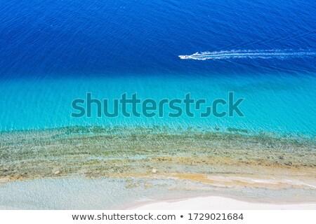 Widok z lotu ptaka saloniki Grecja panoramę zmierzch krajobraz Zdjęcia stock © joyr