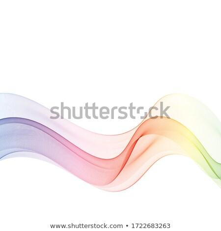 Stock fotó: Kék · absztrakt · szín · hullám · vektor · füst