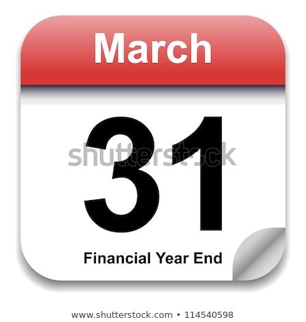 Stockfoto: Datum · kalender · einde · maand · ondiep · teken