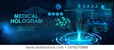 Abstrato cardiologia médico tecnologia medicina azul Foto stock © Tefi