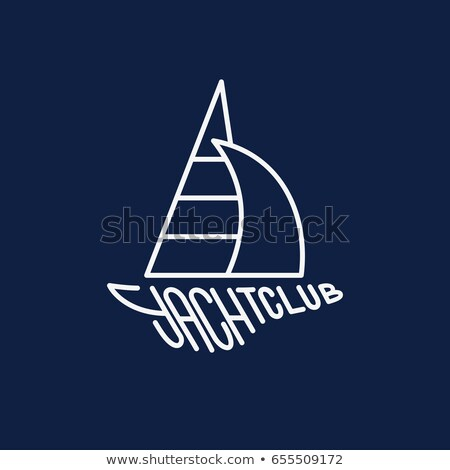Barco vetor estilo projeto água esportes Foto stock © robuart