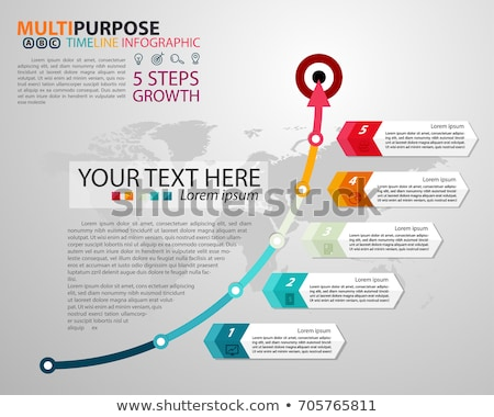 Vector Infographic multi timeline report template  Stock photo © orson