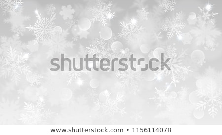 karácsony · keret · kicsi · kék · hópelyhek · sarkok - stock fotó © swillskill