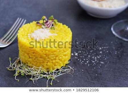 Prato sopa de legumes decorado queijo ralado topo ver Foto stock © Yatsenko