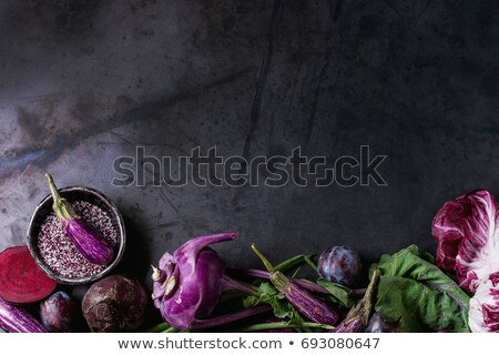 Fresh eggplant on dark background Stock photo © andreasberheide
