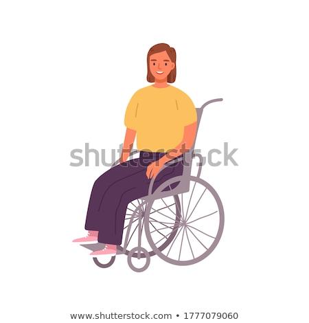障害者 · 駐車場 · にログイン · 孤立した · 白 - ストックフォト © fisher