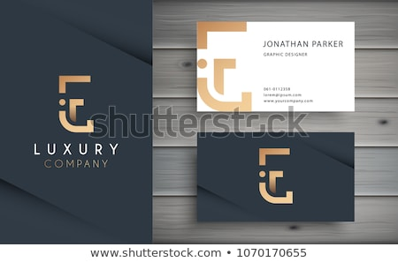 premium letter E logo design golden template Stock photo © SArts