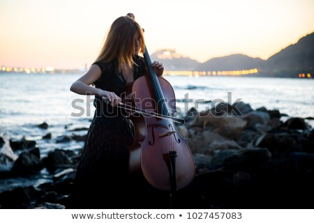 Attractive cello player playing her instrument Stock photo © sumners