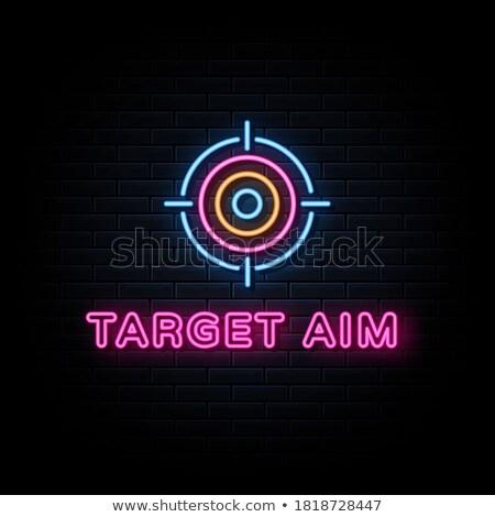 Targets neon concept. Stock photo © 72soul