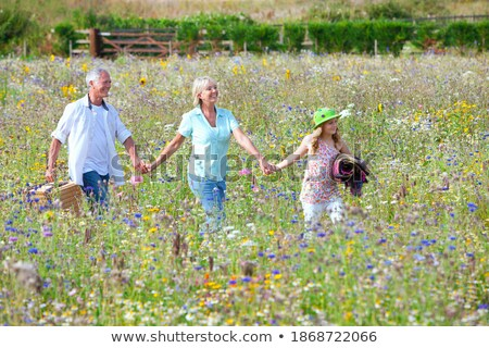 Grandfather and granddaughter holding hands while walking Stock photo © wavebreak_media