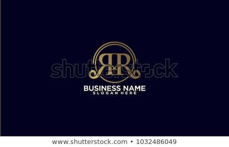 Stock fotó: R · betű · logo · arany · korona · virágmintás · dekoráció
