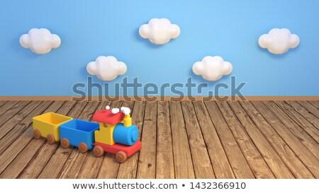 Trein heldere kleurrijk speelgoed groep kleur Stockfoto © JanPietruszka