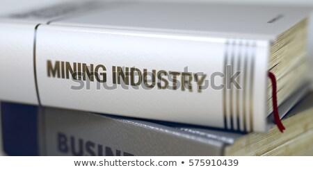 Boek titel wervelkolom machines engineering 3D Stockfoto © tashatuvango
