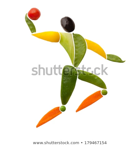Volleyball fruits légumes forme joueur Photo stock © Fisher