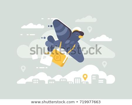 Postage pigeon character Stock photo © jossdiim