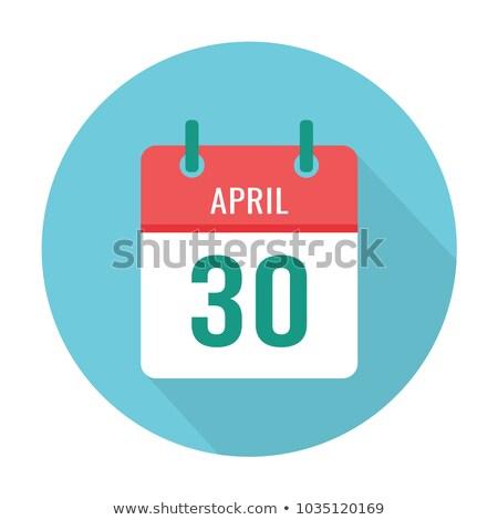 30 dzsessz nap naptár üdvözlőlap ünnep Stock fotó © Olena