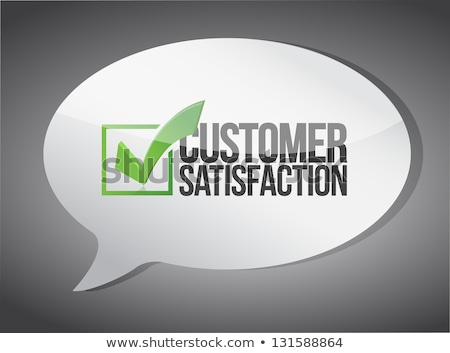 satisfação · do · cliente · texto · quadro-negro · caderno · canetas · telefone · móvel - foto stock © tashatuvango
