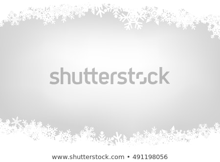 White Frame Christmas Stars Snowflakes Ornaments Wallpaper Stock photo © limbi007