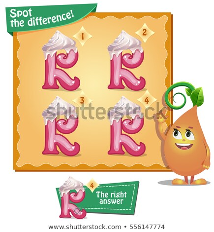 Spot the difference letters r Stock photo © Olena