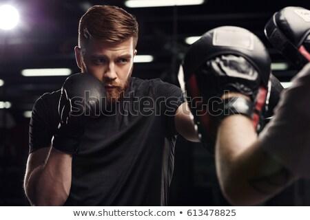 спортсмен · штанга · изолированный · белый · стороны · спортзал - Сток-фото © deandrobot