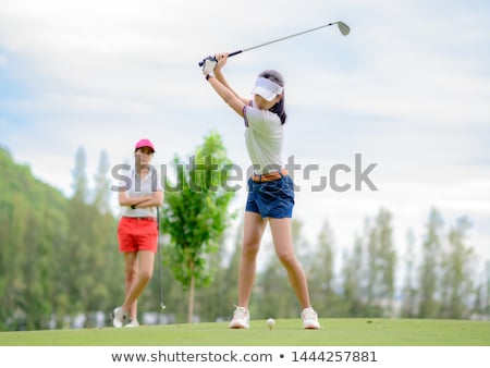 Stock photo: Three women on fairway