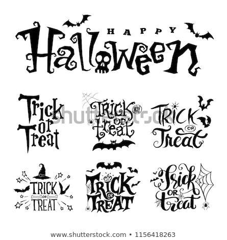 рисунок Хэллоуин сообщение школы бумаги Spider Сток-фото © romvo