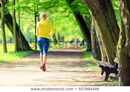 güç · yürüyüş · kadın · park · eğitim · güzel - stok fotoğraf © blasbike