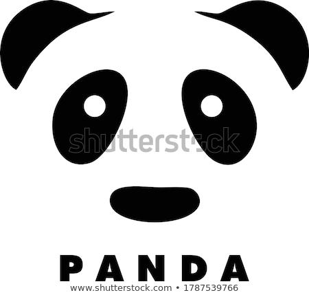 Asya · stil · ayı · yüzler · vektör · imzalamak - stok fotoğraf © vectorworks51