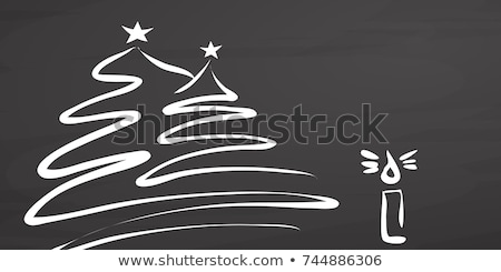 Christmas tree covered with snow sketch icon. Stock photo © RAStudio