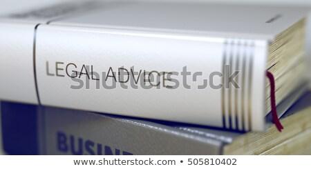 legal advice   book title 3d stock photo © tashatuvango