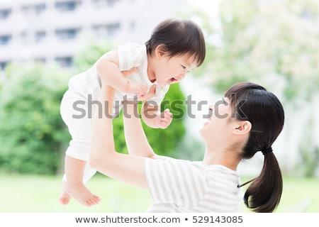 Anya kert nő gyermek fiatal női Stock fotó © IS2