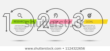 три шаги опции веб Баннеры Сток-фото © SArts