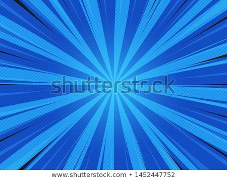 Sarı karikatür patlama mavi pop art Retro Stok fotoğraf © studiostoks