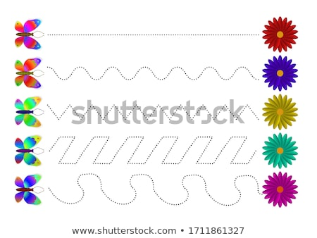 Stock photo: Children s educational game for motor skills. Connect the dots picture. For children of preschool ag