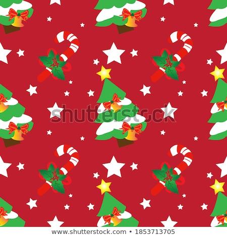 Illusztráció karácsony cukorka sétapálca vektor kéz Stock fotó © Sonya_illustrations