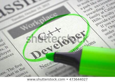 toepassing · ontwikkelaar · werk · afbeelding · werken · tabel - stockfoto © tashatuvango