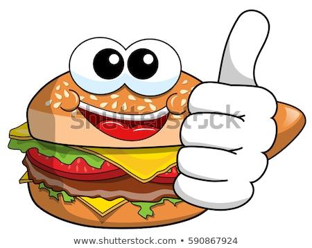 Cartoon Cheese Burger Stock photo © Krisdog