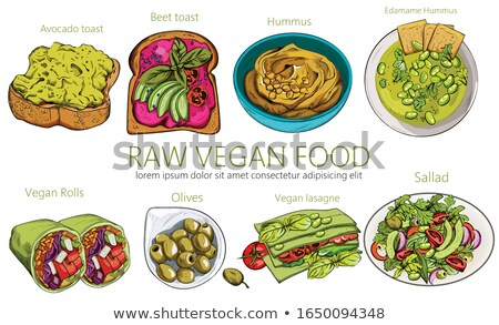 Avokado salata rulo taze sağlıklı kare Stok fotoğraf © fotogal