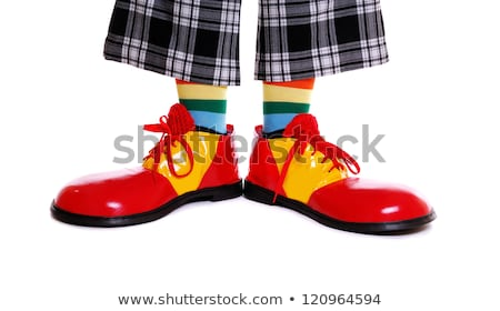 Foto stock: Palhaço · sapatos · pedestre · rua · estrada · pernas
