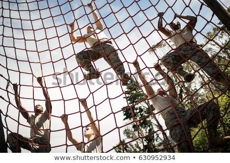 negociações · armado · homens · militar · conflito · homem - foto stock © pedromonteiro