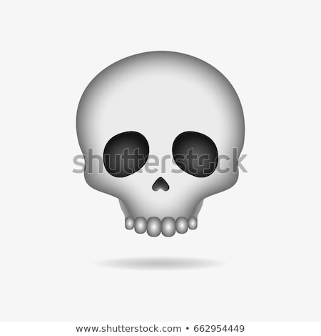 Skull emoji face, emoticon, sticker Stock photo © ikopylov