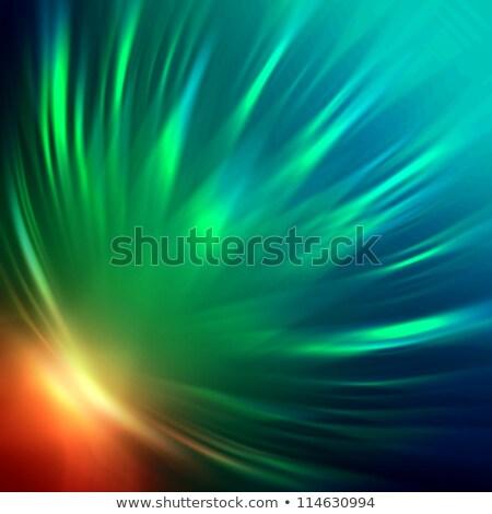 Rainbow Radiance Dark Background Stockfoto © marinini