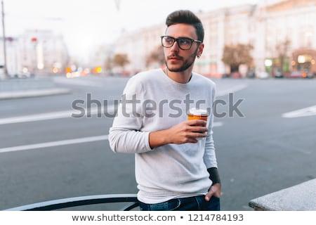 Man standing on city street Stock photo © IS2