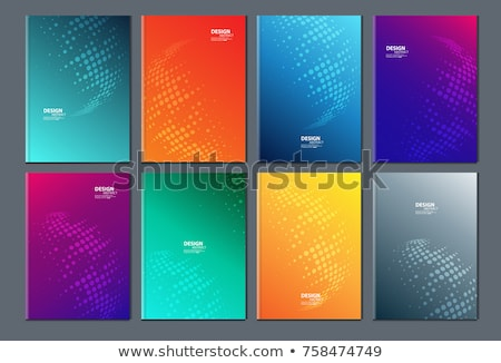 Orange Booklet cover template Stock photo © daboost