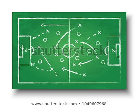 Football soccer pitch and 2018 with ball Stock photo © elaine